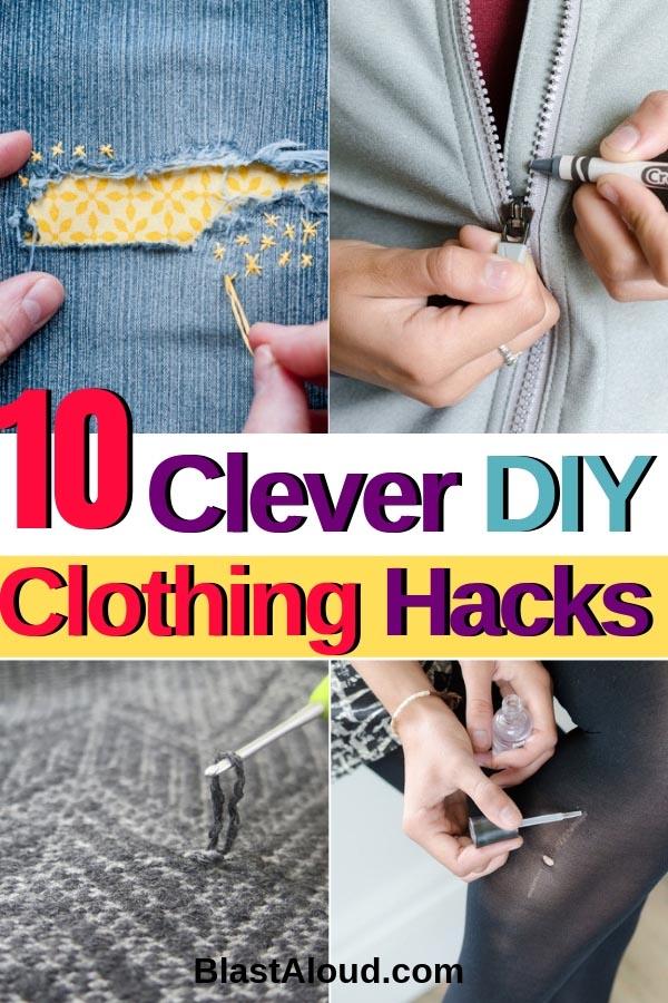 Clever DIY Clothing Hacks