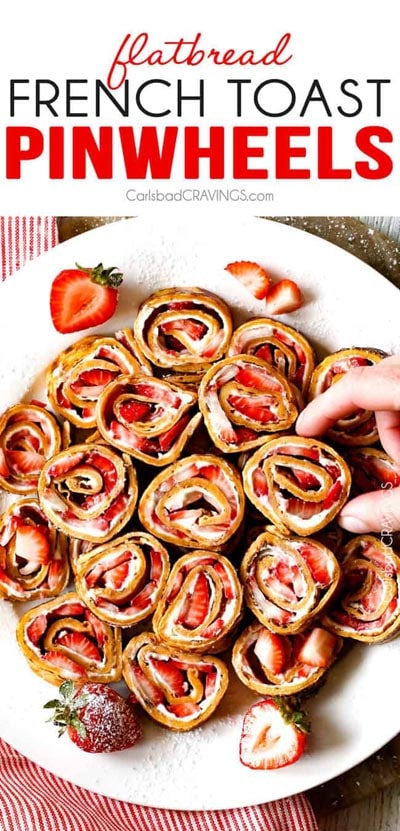 Pinwheel Appetizers & Pinwheel roll ups: French Toast Roll Ups