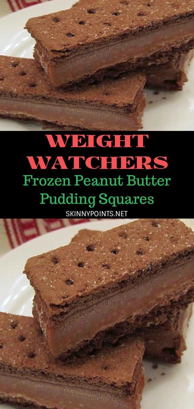 Weight Watchers Recipes With SmartPoints: Frozen Peanut Butter Pudding Squares