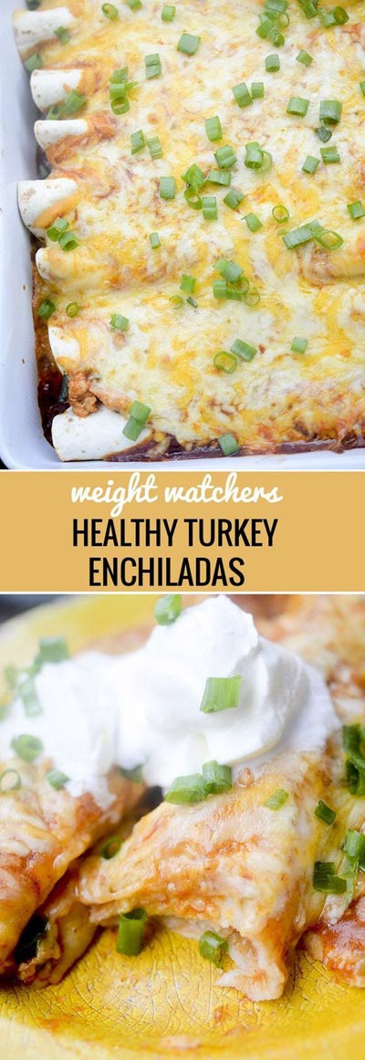 Weight Watchers Recipes With SmartPoints: Healthy Baked Turkey Enchiladas