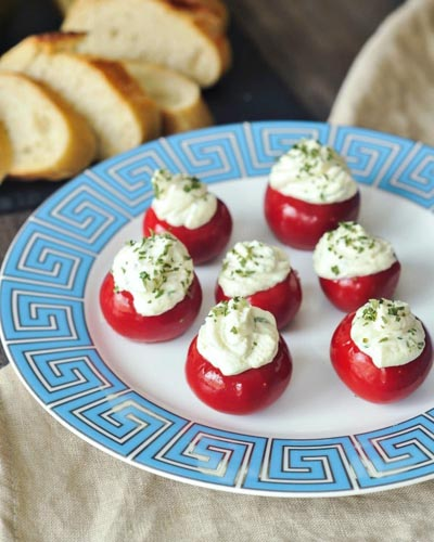 Healthy Super Bowl Appetizers: Herb Cheese Peppadew Sweet Peppers