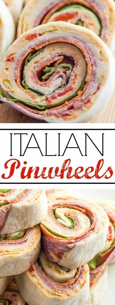 Pinwheel Appetizers & Pinwheel roll ups: Italian Pinwheels