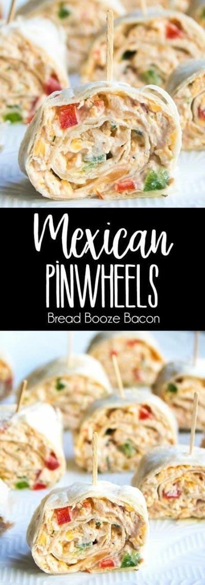 Pinwheel Appetizers & Pinwheel roll ups: Mexican Pinwheels