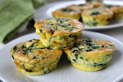 Healthy Super Bowl Appetizers: Mini Spinach Feta Quiche