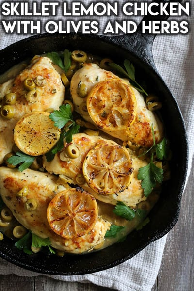 Weight Watchers Recipes With SmartPoints: Skillet Lemon Chicken With Olives And Herbs