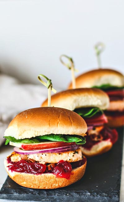 Healthy Super Bowl Appetizers: Sweet and Savory Salmon Sliders With Cranberry Sauce