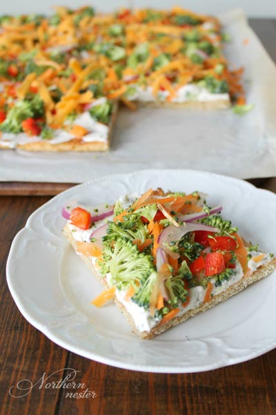 Healthy Super Bowl Appetizers: Veggie Pizza