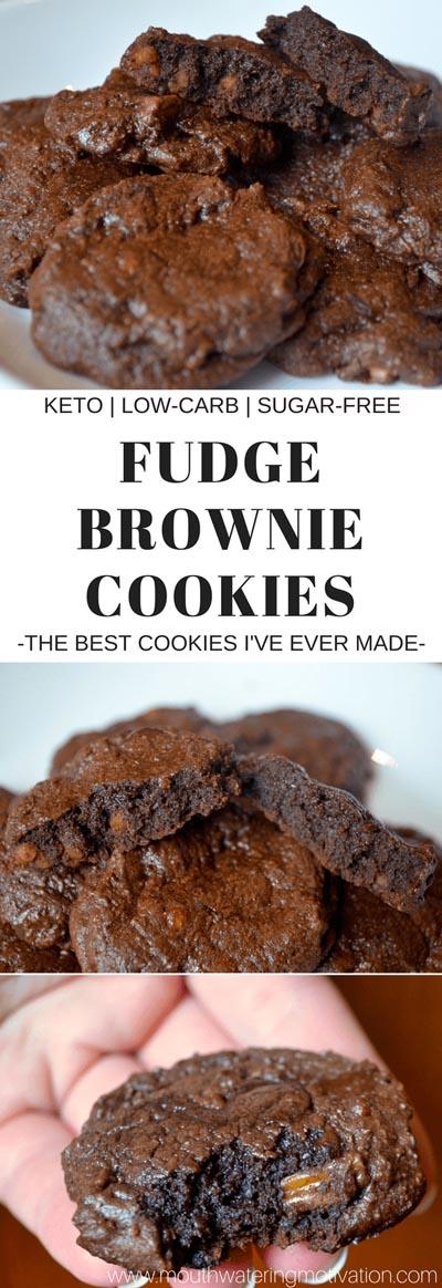 Keto Chocolate Dessert Recipes: Fudgey Keto Brownie Cookies