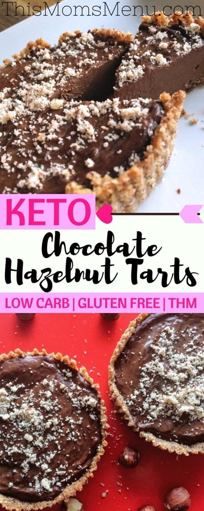 Keto Valentines Day Treats: Keto Chocolate Hazelnut Tarts