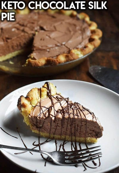 Keto Chocolate Dessert Recipes: Keto Chocolate Silk Pie