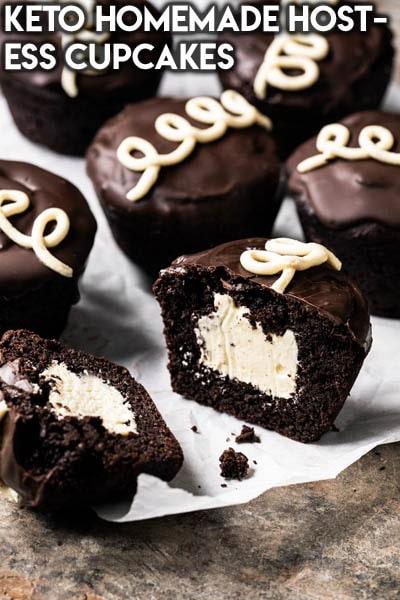 Keto Chocolate Dessert Recipes: Keto Homemade Hostess Cupcakes