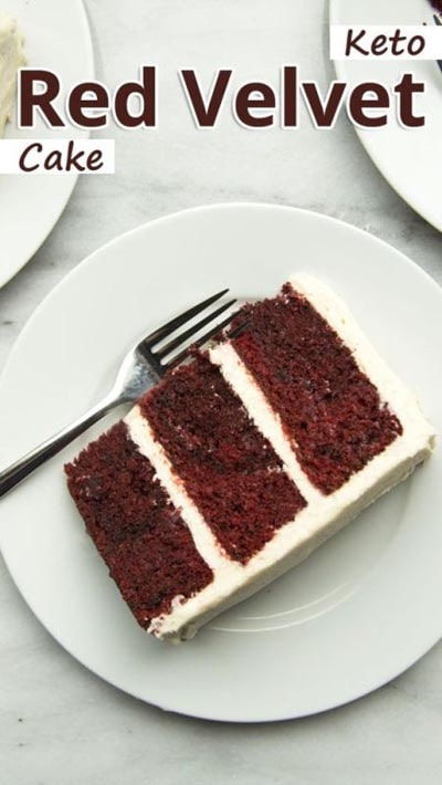 Keto Valentines Day Treats: Keto Red Velvet Cake