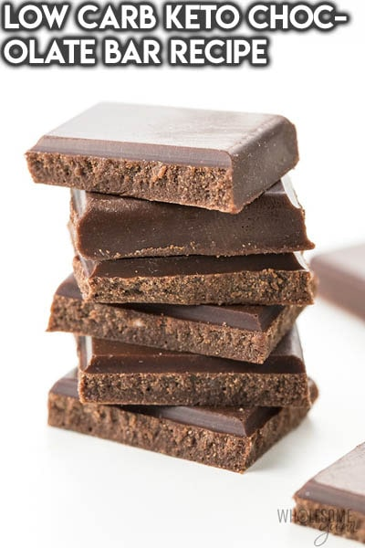 Keto Chocolate Dessert Recipes: Low Carb Keto Chocolate Bar Recipe