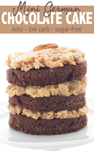 Keto Valentines Day Treats: Mini German Chocolate Cake