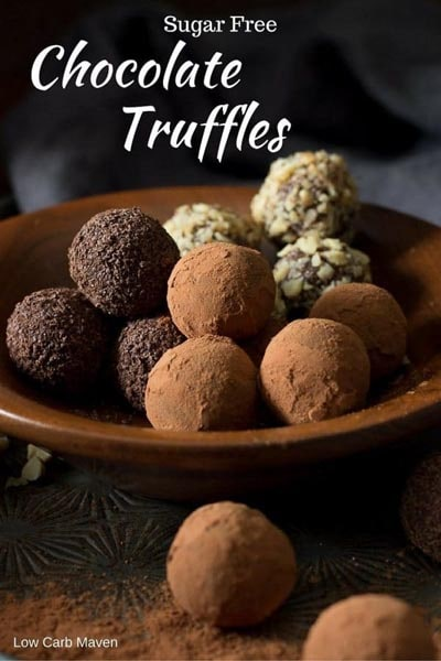 Keto Chocolate Dessert Recipes: Sugar Free Chocolate Truffles