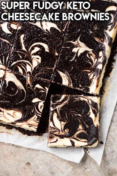 Keto Chocolate Dessert Recipes: Super Fudgy Keto Cheesecake Brownies