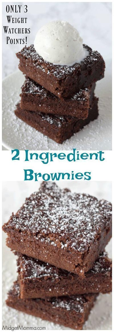 Weight watchers desserts with points: 2 Ingredient Brownies