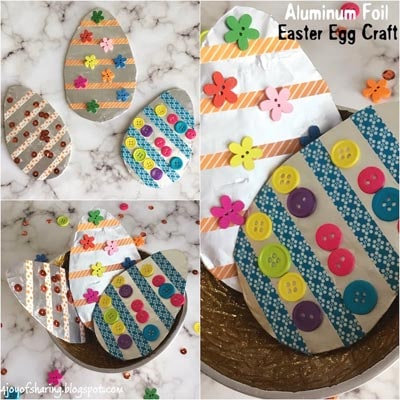 Aluminum Foil Easter Egg Craft