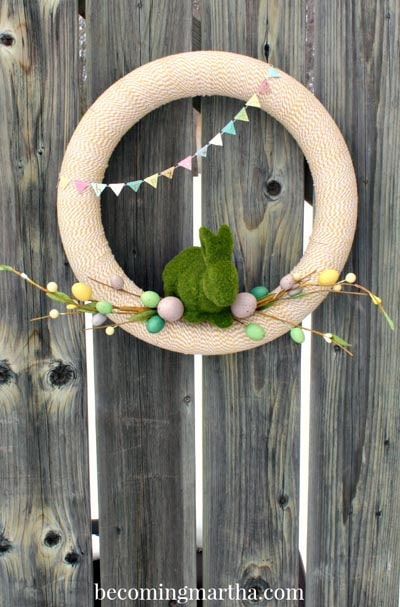 DIY Easter Wreaths: Baker's Twine Spring Wreath