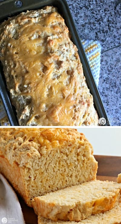 Homemade bread recipes: Beer Bread Recipe with Garlic and Cheese