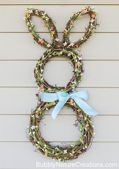 DIY Easter Wreaths: Bunny Wreath