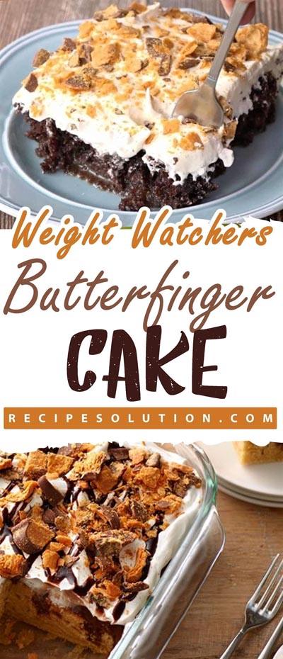 Weight watchers desserts: Butterfinger Cake