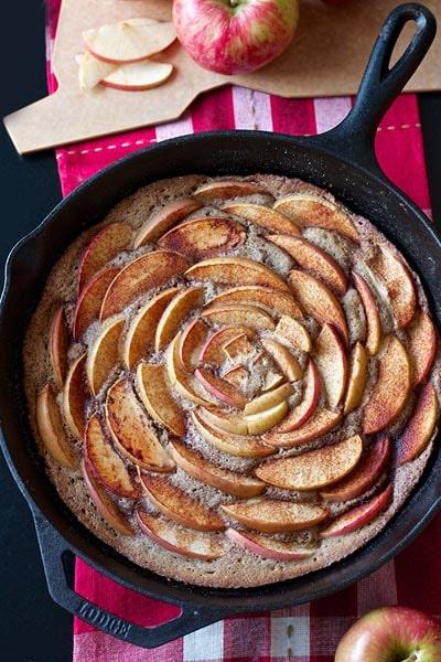 Skillet Desserts: Cinnamon Apple Skillet Cake