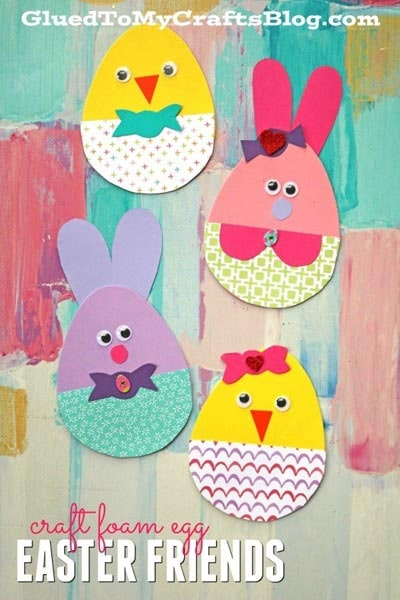 Craft Foam Egg Easter Friends