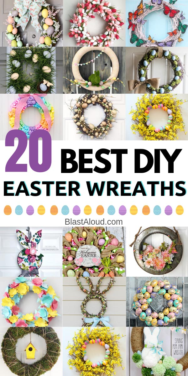 Easy DIY Easter Wreaths