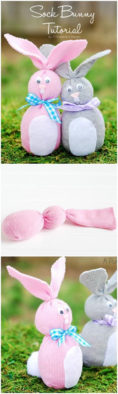 DIY Sock Easter Bunny