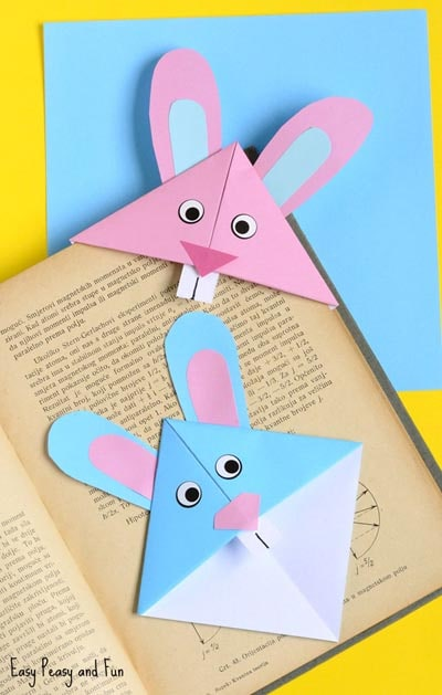 Easter Crafts for Kids: Easter Bunny Corner Bookmark