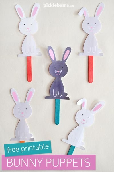 Easter Bunny Puppets