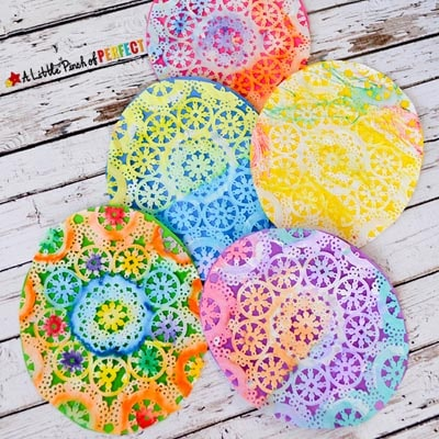 Easter Egg Doily Craft For Kids