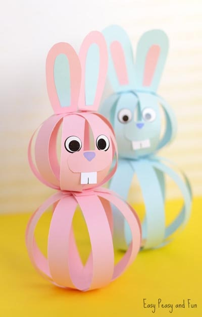 Easter Crafts for Kids: Easy Paper Bunny Craft