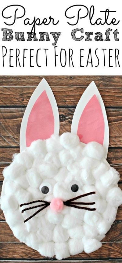 Easter Crafts for Kids: Easy Paper Plate Bunny Craft For Kids