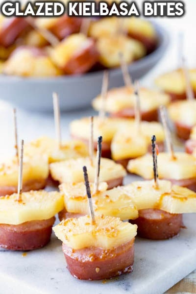 Meat Appetizers: Glazed Kielbasa Bites