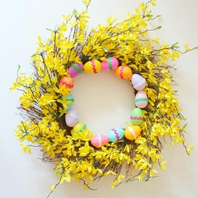 DIY Easter Wreaths: Last Minute Easter Wreath