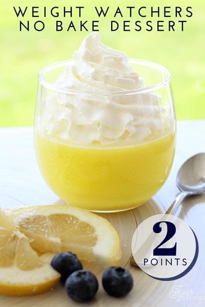 Lemon Low point Weight Watchers Dessert