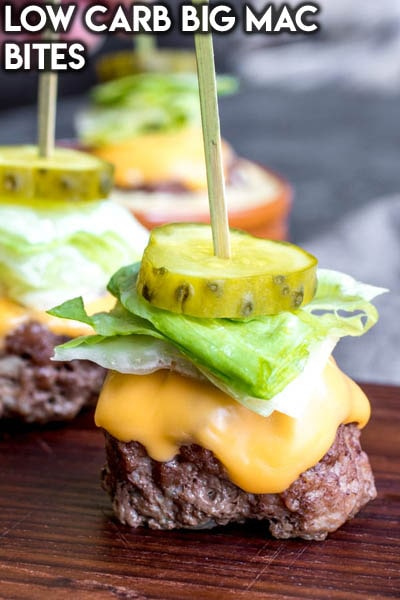 Meat Appetizers: Low Carb Big Mac Bites