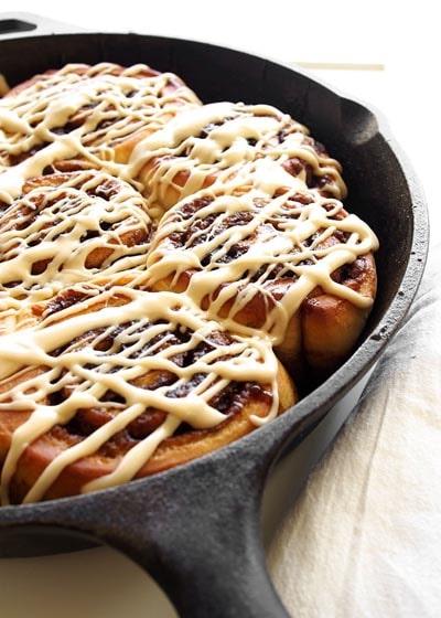 Skillet Desserts: Maple Syrup Cinnamon Rolls