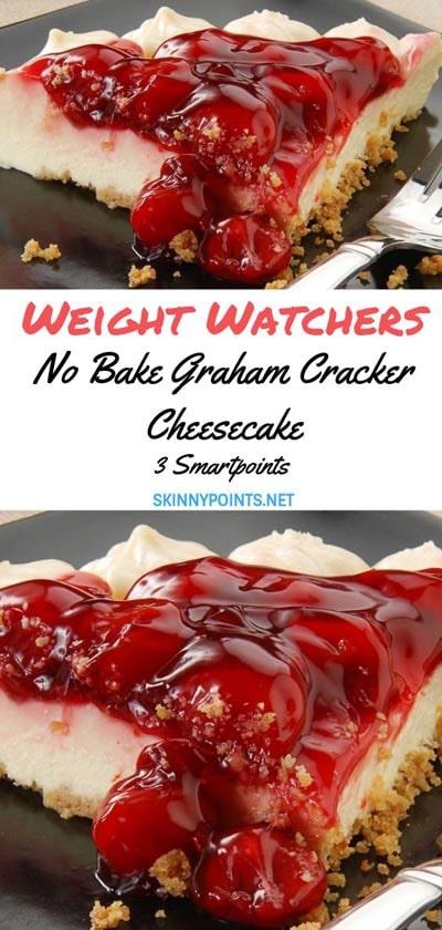 Weight watchers desserts: No Bake Graham Cracker Cheesecake – 3 SmartPoints