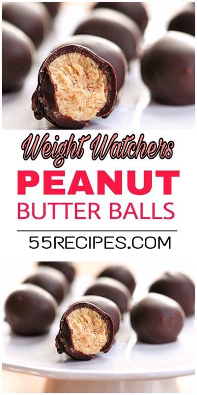 Weight watchers desserts: Peanut butter balls – 2 SmartPoints
