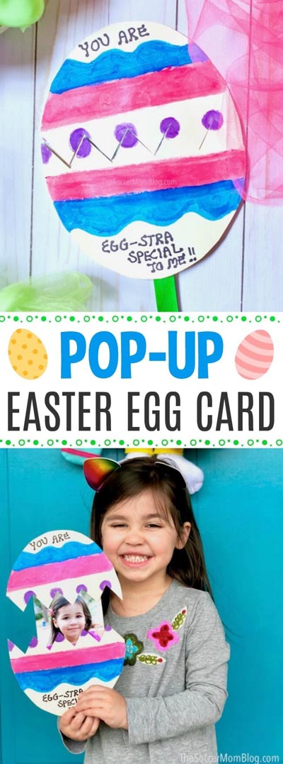 Easter Crafts for Kids: Pop-Up Easter Egg Card