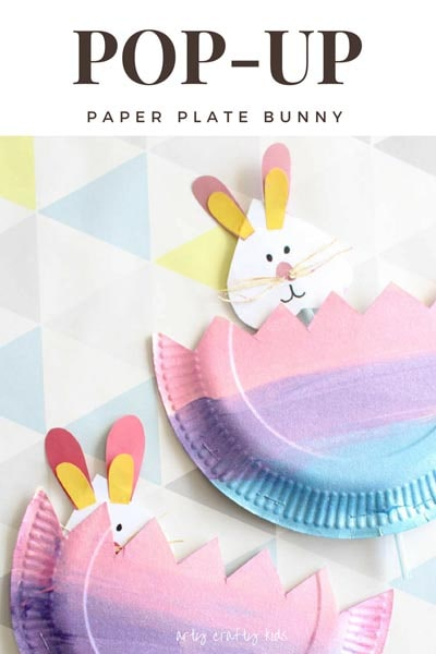 Pop Up Paper Plate Bunny