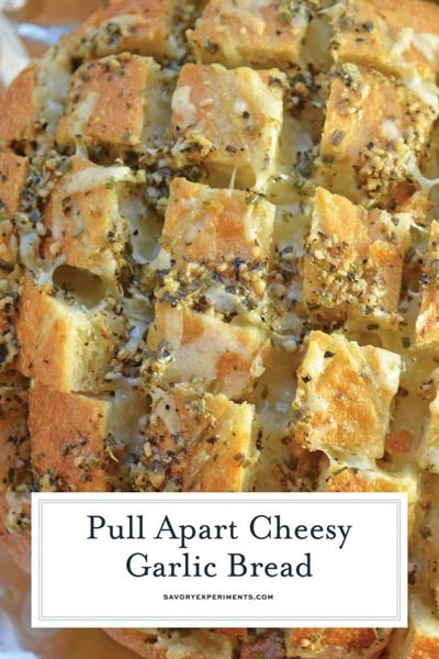 Homemade bread recipes: Pull Apart Cheesy Garlic Bread
