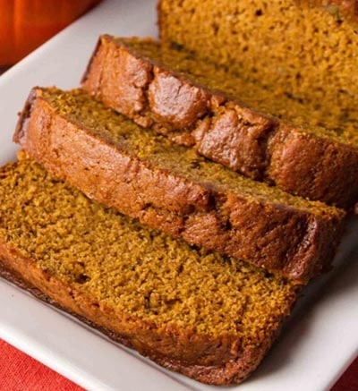 Homemade bread recipes: Pumpkin Bread
