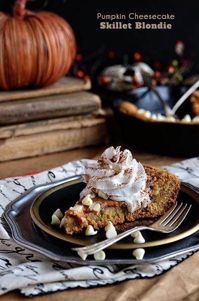 Skillet Desserts: Pumpkin Cheesecake Skillet Blondie