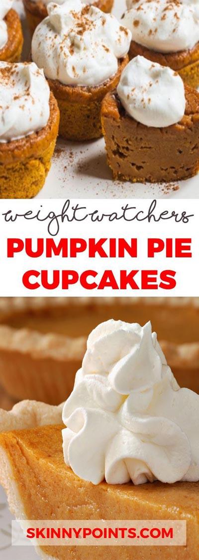 Weight watchers desserts: Pumpkin Pie Cupcakes – 3 Smart Points