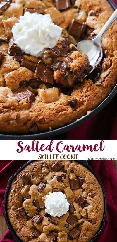 Skillet Desserts: Salted Caramel Skillet Cookie