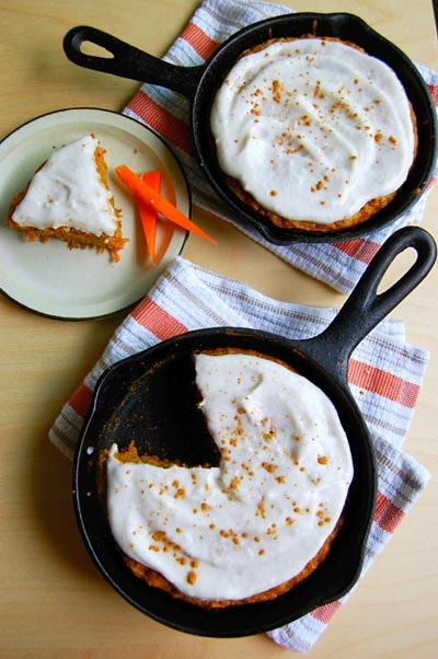 Skillet Desserts: Skillet Carrot Cake with Cream Cheese Frosting